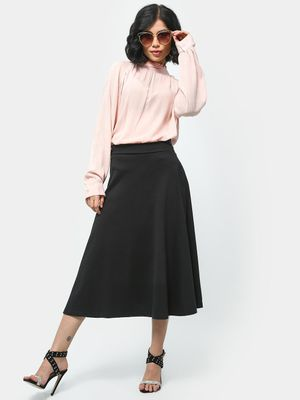 KOOVS Frill Neck Long Sleeve Blouse