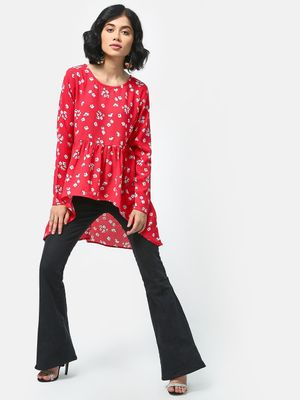 KOOVS Floral Printed Top