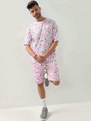 KOOVS Printed Oversized T-Shirt