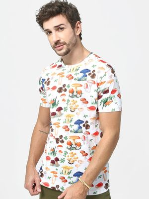 KOOVS All Over Print Crew Neck T-shirt