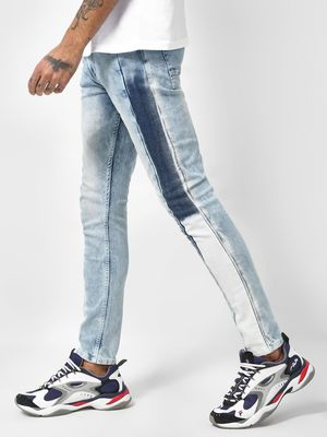 K Denim KOOVS Mid-Rise Acid Wash Denim Jeans