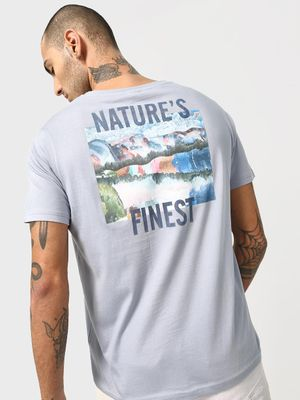KOOVS Back Slogan Graphic Print T-shirt