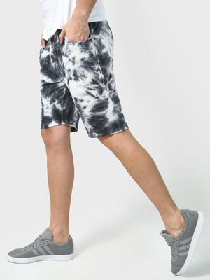 Blue Saint All Over Tie-Dye Shorts