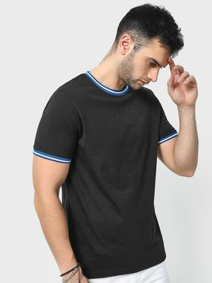 Blue Saint Crew Neck Short Sleeves T-Shirt