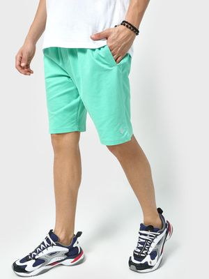 Blue Saint Logo Elasticated Waist Shorts