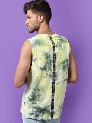 Blue Saint All Over Tie-Dye Print Vest