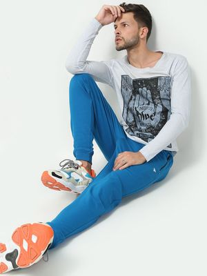 Blue Saint Solid Slim Fit Jog Pants