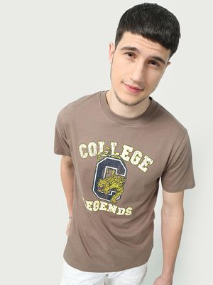 KOOVS graphic Placement Text Print T-Shirt