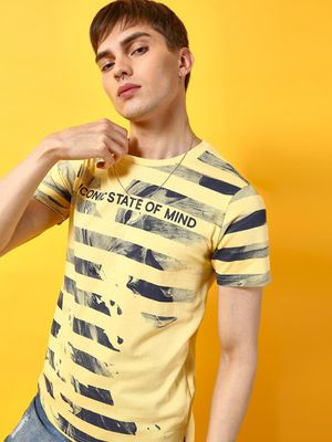 KOOVS Slogan Print Short Sleeves T-Shirt