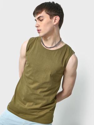 KOOVS Round Neck Sleeveless T-Shirt