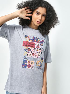 KOOVS Choose Kindness Placement Print T-Shirt
