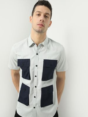 KOOVS Smart Utility Pocket Shirt