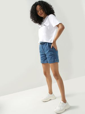 KOOVS Paneled Relaxed Fit Shorts
