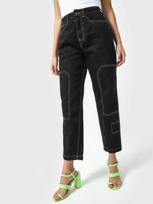 K Denim Koovs Essential Cropped Boyfriend Jeans