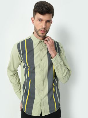 KOOVS Vertical Lines Causal Shirts