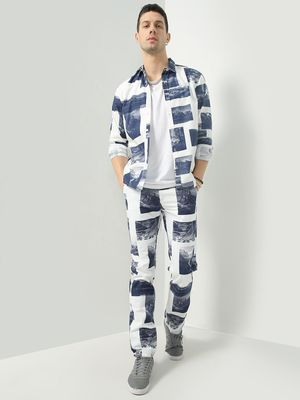 KOOVS Picture Print Relaxed Fit Trousers