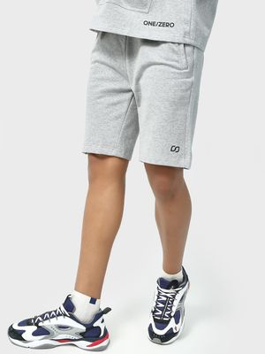 ONE/ZERO BY KOOVS Textured Elasticated Waist Sports Shorts