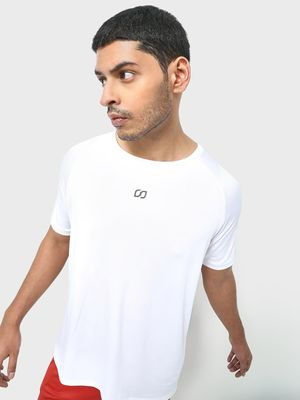 ONE/ZERO BY KOOVS Mesh Reflective Logo T-Shirt