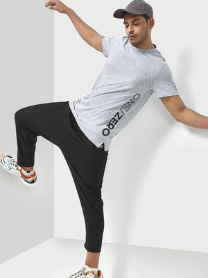 ONE/ZERO BY KOOVS Textured Crew Neck Training T-shirt