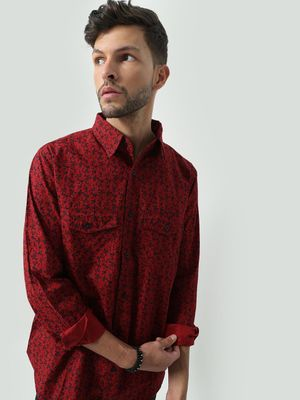 Oxolloxo All Over Abstract Print Shirt