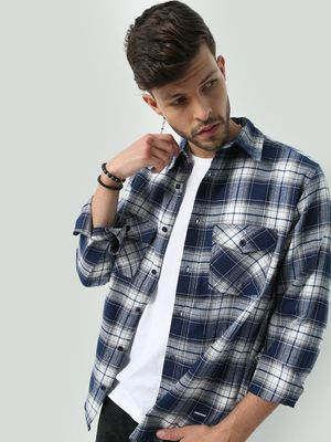 Oxolloxo  All Over Checkered Printed Shirt