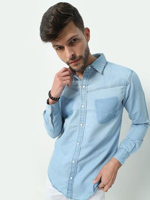 FUGAZEE Washed Chambray Shirt