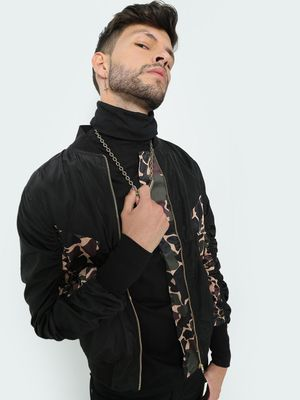 FUGAZEE Camo Print Long Sleeves Jacket