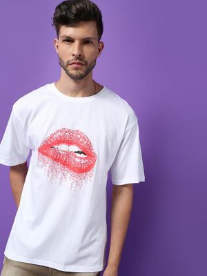 KOOVS Crew Neck Printed T-Shirt