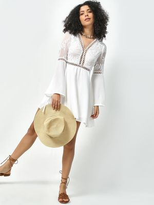 KOOVS Embroidered Tunic Dress