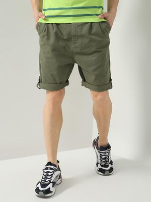 K Denim Koovs Roll-Up Hem Shorts