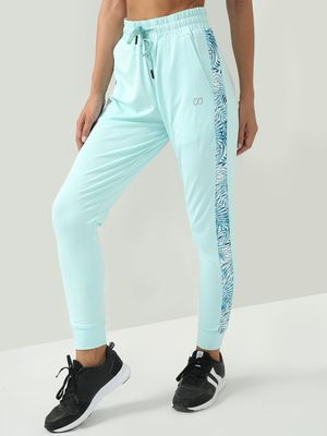 ONE/ZERO BY KOOVS Athleisure Side Leaf Print Trousers