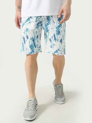 ONE/ZERO BY KOOVS Athleisure Splatter Print Sports Shorts