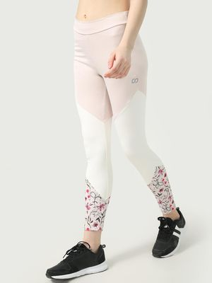 ONE/ZERO BY KOOVS Cut & Sew Color-Block Training Leggings