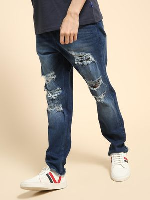 KOOVS Ripped Mid Rise Casual Jeans