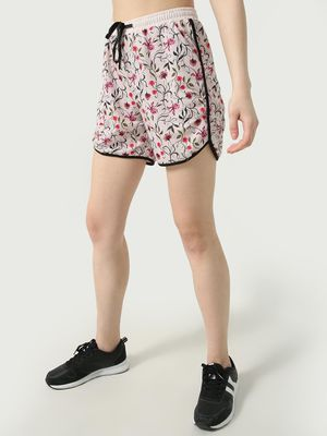 ONE/ZERO BY KOOVS Athleisure Floral Print Shorts