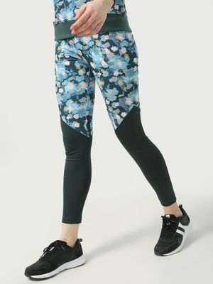 ONE/ZERO BY KOOVS Cut & Sew Camo Print Training Leggings