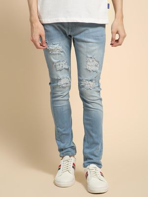 Blue Saint Ripped Mid Rise Skinny Fit Jeans