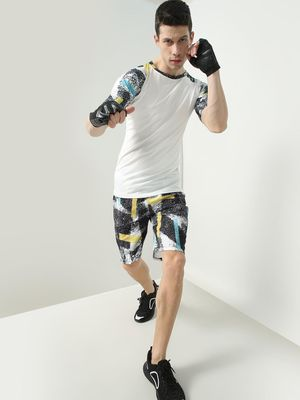 ONE/ZERO BY KOOVS Splatter Print Sports Shorts