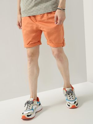 KOOVS Roll-Up Hem Casual Shorts