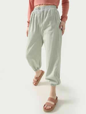 KOOVS Elasticated Cuffed Hem Trousers