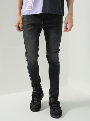 K Denim Koovs Side Contrast Stripe Denim Jeans