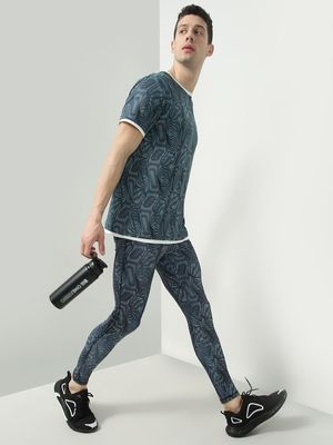 ONE/ZERO BY KOOVS Abstract Print Active Stretch Joggers