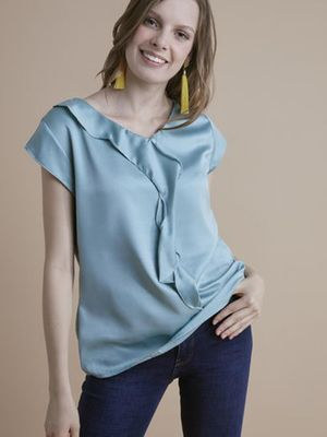 MERAKI Essential V-Neck Frill Top