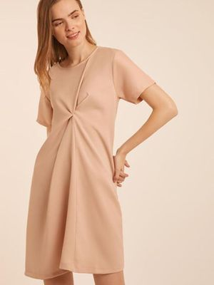 MERAKI Solid Crumpled Maxi Dress