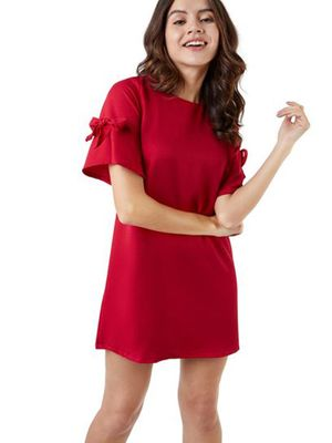 MERAKI Cap Sleeves Shift Dress