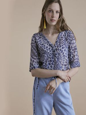 MERAKI Printed Casual Top