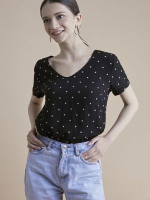 MERAKI All Over Star Print Blouse