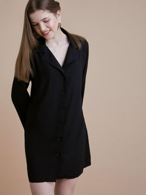 D'BASIC Smart Button-Down Shirt Dress