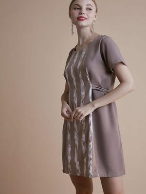 MERAKI Stripe Pattern Maxi Dress