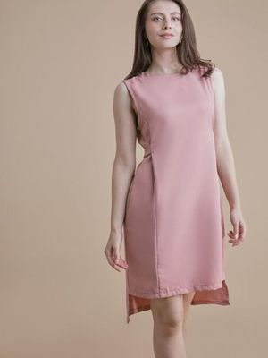 MERAKI High-Low Hem Shift Dress